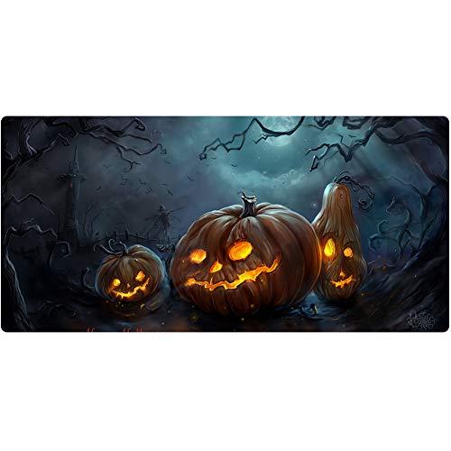 Großes Gaming-mauspad, Halloween-muster Notebook-desktop Erweiterte Mauspad Desktop-tastaturpad Schutzmatte, Büro-computer Rutschfest (120 X 60 X 3, 100 X 50 X 3, 90 X 40 X 3)