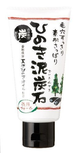 Facial Cleansing Foam with Charcoal and Hinoki Oil (japan import)