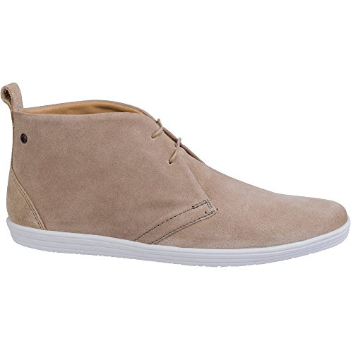 Base London Mens Roadie Suede Leather Casual Lace Up Chukka Boots Taupe