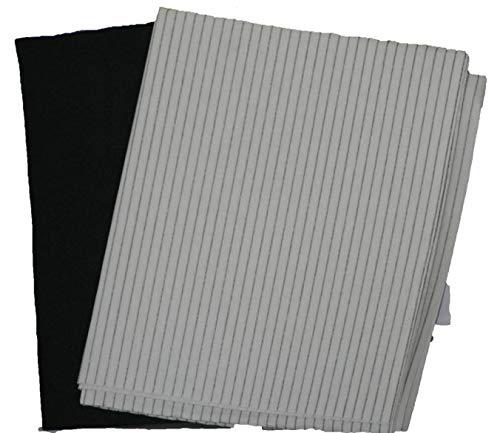 Paquete de 3 filtros de grasa de carbono para campana extractora de...