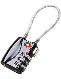 2 x 3-Dial TSA Combination Luggage Locks With SEARCHCHECK (Black)