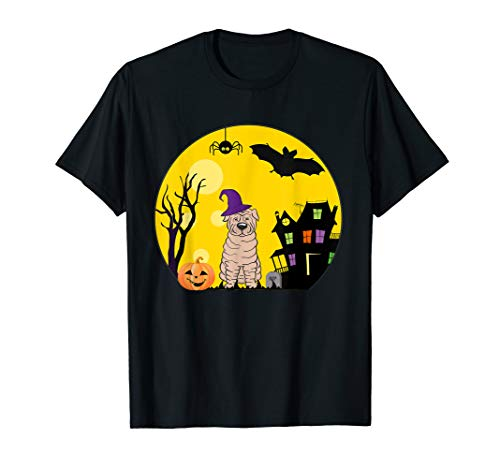 Kostüm Pei Shar - Shar Pei Hunde-Halloween-Kostüm gruselig Vollmond T-Shirt