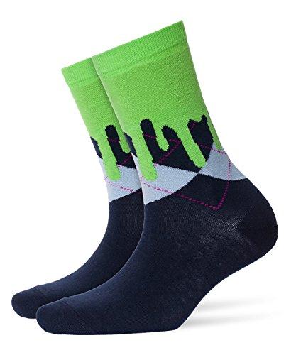 Burlington Damen Socken Argyle Drippy, Mehrfarbig (Marine 6120), 36/41
