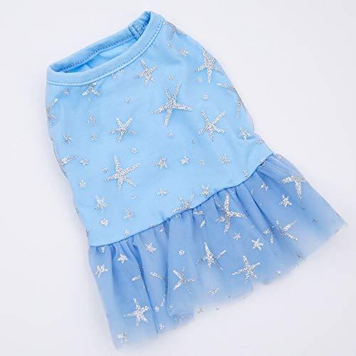 LovelyPet Kleidung for Haustiere Haustierkleidung Fantasy Dog Princess Dress Hunderock Hundekleidung Kleid (Color : Blue, Size : L) -