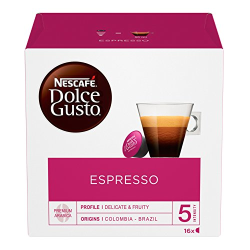 NESCAFÉ Dolce Gusto Espresso, Caffè Espresso, 6 Confezioni da 16 Capsule (96 Capsule)