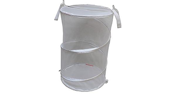 Achim Home Furnishings Avenue Collection Mesh Laundry Hamper White HAMPERWH06