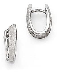 Black Bow Jewellery Company : Small Abstract Textured Hinged Hoop Earrings in Sterling Silver