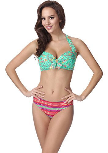Feba Damen Push Up Bikini F20 Muster-334