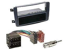 1 Din Radio Einbauset Blende Radioanschlusskabel Antennenadapter für Mercedes C Klasse W203 S203 CL203 2000-2004