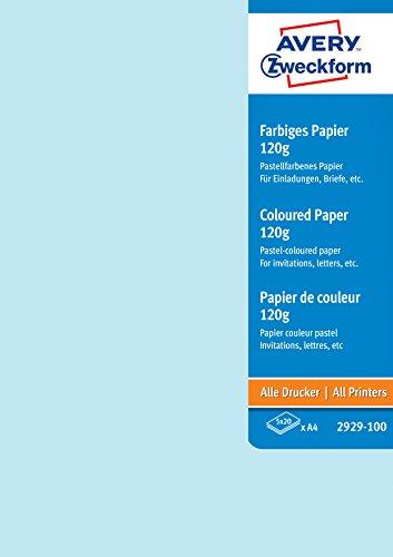 AVERY Zweckform 2929-100 Farbige Papiere (A4, unbeschichtet, 120 g/m², 100 Blatt)
