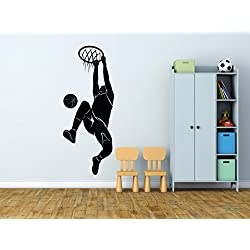 Vinilo Decorativo Pared Mate Baloncesto | Varias Medidas 36x100cm | Pegatina Adhesiva Decorativa de Diseño Elegante