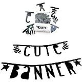 A little lovely company Buchstabengirlande Letter Banner schwarz 138 Buchstaben Zahlen Symbole