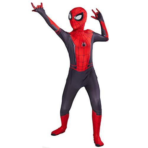 Und M Kleinkind M Kostüm - Ghuajie5hao Spiderman Weit Weg von Zuhause Cosplay Kostüme Overall Kinder 3D Gedruckt Trikot Kinder Halloween Budysuit Kostüm Für Kinder Kleinkinder Zubehör,Rot,M