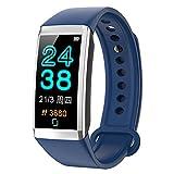 TD19 Smart Bracelet Fitness Tracker Heart Rate IP67 Waterproof Band (Blue)