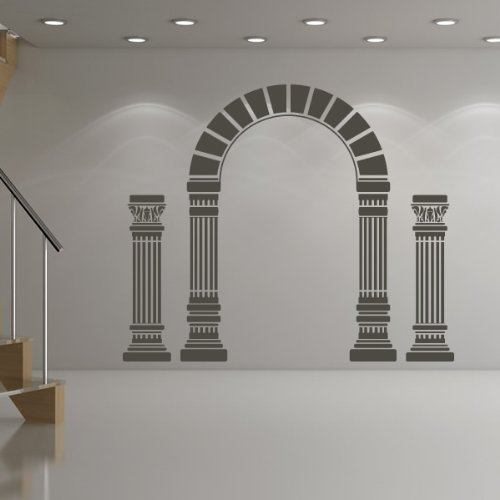 Arco e colonne Wall Sticker Adesivo Greek Art disponibile in 5 dimensioni e 25 colori (Archi Wall Art)