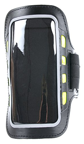 Schwarzes Fitness-Armband mit LED und Hülle für Archos 55f Helium (Lite) | BC Master CP-02 + CP-01 | Bestore Z7 Yellow + Z6 Plus | Blackview BV2000 + BV2000s + Arrow + Acme + A8 sowie MP3-Player