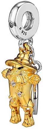 FUNSHOPP 2018 Autunno Scarecrow Guardian Shine Clear CZ Bead Argento 925 DIY Adatto per braccialetti Pandora Originali Gioielli Moda