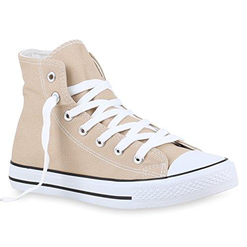Herren Schuhe Sneakers | Sneaker High Denim | Turnschuhe Camouflage | Stoffschuhe Schnürer Creme