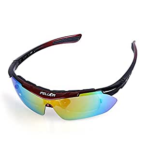 Pellor Sports Sunglasses with 5 Lenses Unbreakable Polarized UV400