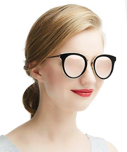 Dada-Pro Vintage Polarisierte Damen Sonnenbrille - Fahrer Brille 100% UV400 Schutz für Autofahren Reisen Golf Party und Freizeit (Gold)