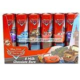 Disney Pixar Cars 6 Milk Chocolate Bars in a Pack 84g