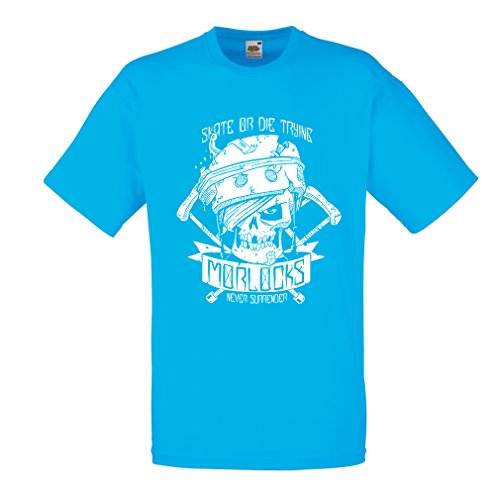 N4605 Camiseta Skate or Die Trying (Medium Azul