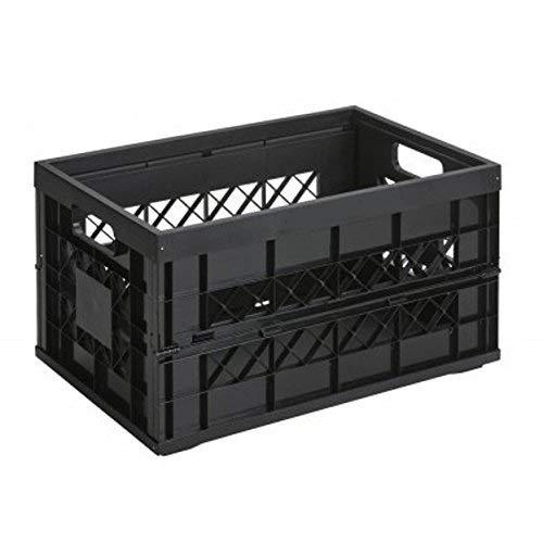 Sunware Square Klappbox Heavy Duty - 45 Liter - 530 x 354 x 284 mm - Schwarz