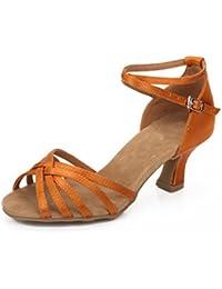 WXMDDN Latin Dance Schuhe silber Dance Schuhe Tanz 7.5cm hochhackigen Schuhe innen weichen Boden schuhe Tanz Jazz Dance Dance Shoe,E38