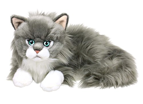 gdoll Katze liegend 25cm, grau/weiß ()