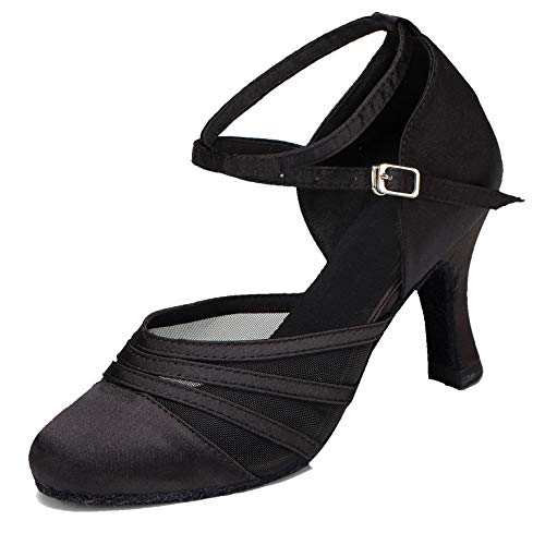 Minitoo Damen Tanzschuhe, Schwarz - Schwarz - Größe: 41
