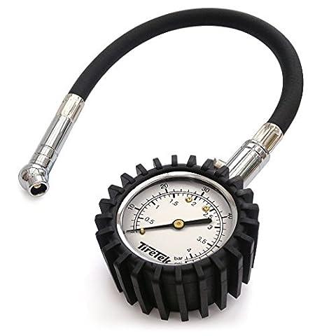 TireTek Flexi-Pro Tyre Pressure Gauge, Heavy Duty Car & Motorbike