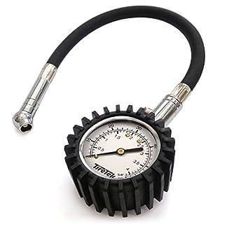 TireTek Flexi-Pro – Manómetro para neumáticos de coche y motocicleta (4bar)
