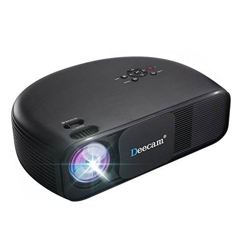 Beamer Full HD, Deecam 1080P HD LED Projektor LCD Heimkino, mit 3300 Luminous Efficiency LCD Videoprojektor unterstützt HDMI USB VGA Laptop Smartphone iPhone Xbox für zu Hause, Präsentation, Unte