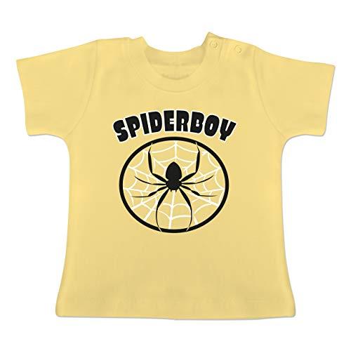 g Baby - Spiderboy - 1-3 Monate - Hellgelb - BZ02 - Baby T-Shirt Kurzarm ()