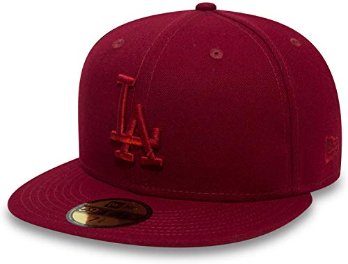 New Era Los Angeles Dodgers League Essential Cardinal Red MLB Cap 59fifty 5950 Fitted Men Special Limited Edition