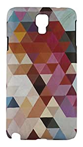 Sun Mobisys®; Samsung Galaxy Note 3 Neo SM-N750 Back Cover; Touch feel Embossed Printed Back Case for Samsung Galaxy NOTE3 NEO - GEOMETRIC