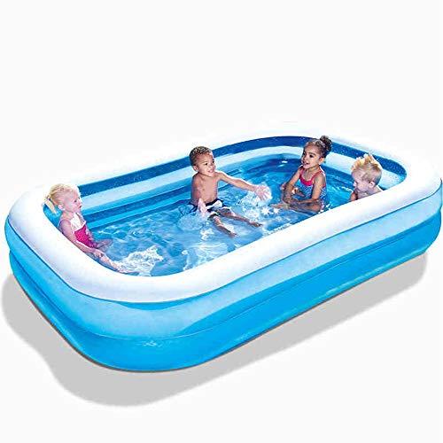 Badewanne Aufblasbarer Swimmingpool der Säuglingskinder, der starken Babyspiel-Poolerwachsenen erhöht (Farbe : A, größe : 201 * 150 * 51cm)
