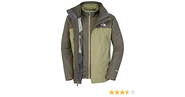 The North Face Men s Primavera II Triclimate Jacket - Burnt Olive  Green Black Ink Green 30818b77da0f