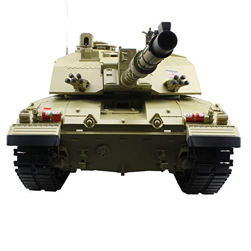 Tanktoyd Sensitive 2.4Ghz 1/16 Char d'assaut de Bataille Principal Britannique Challenger 2 Emulational Britannique avec fumée et Effet sonore