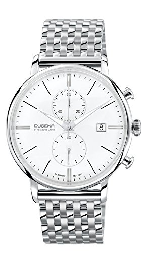Dugena Herren-Armbanduhr Festa Chronograph - Traditional Classic Analog Quarz Edelstahl 7090168