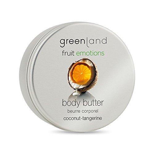 Greenland Body Butter Kokos Manderine | Verwöhnende Alternative zu Kokos Lotion, Bodylotion ohne Parabene & Kokosnuss Creme| Pflegende Kokos Körperbutter -