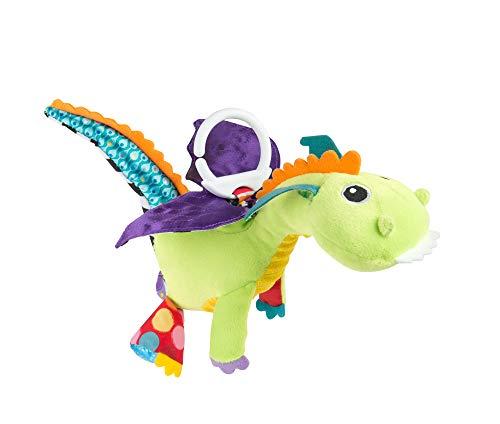 """Lamaze Baby Spielzeug \""""Diego, der fliegende Drache\"""" Clip & Go - hochwertiges Kleinkindspielzeug - Greifling Anhänger zur Stärkung der Eltern-Kind-Beziehung - ab 0 Monate"""