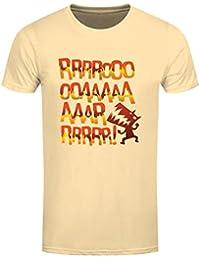 T-Shirt The Angry Dinosaur Homme Jaune Pâle