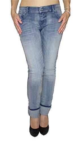 Damen Skinny Diesel Jeans (Diesel Damen Stretch Jeans GRUPEE 0667E Superslim Skinny blau (28/32))