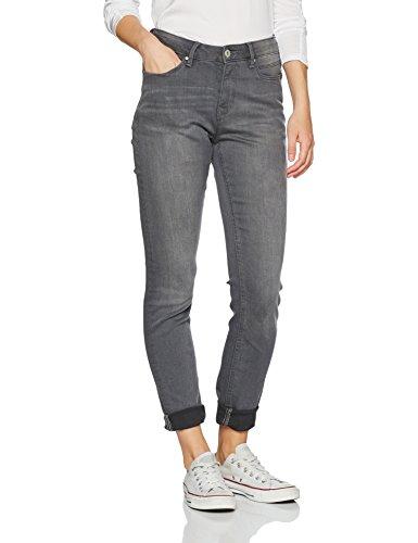 edc by ESPRIT Damen Skinny Jeans 996CC1B909, Grey Dark Wash 921, W26/L32
