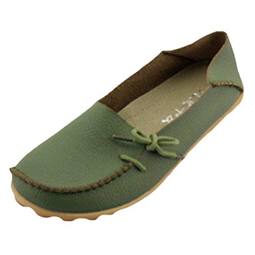 Vogstyle Donna Scarpe Col Tacco Basso Piatto Casuali Comfort Pompe Espadrillas Scarpe Stile-1 Verde