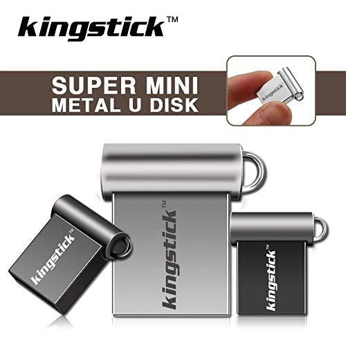 KingstickTM 32GB Super Mini Nano Pen Drive Silver Metal USB Flash Drive Pen Drive Memory Stick Thumbdrive U Disk