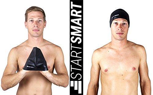 start-smart-sports-premium-anti-slip-silicone-swim-cap-black