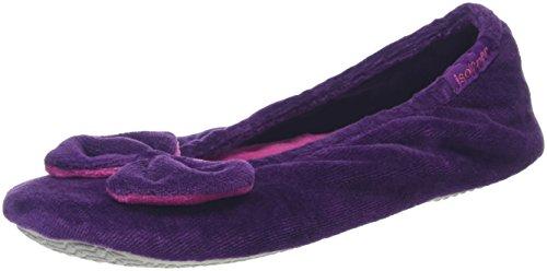 isotoner-women-velour-big-bow-ballerina-low-top-slippers-purple-purple-l-uk-38-39-eu