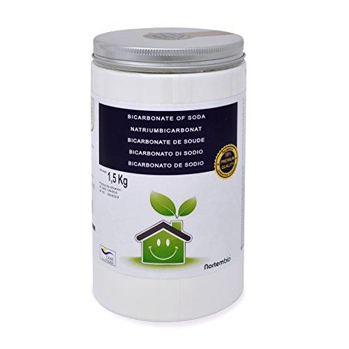 Bicarbonate de Soude NortemBio 1.5Kg, Intrant de la production biologique, Qualité Supérieure, naturel 100% pur. Développé en France.